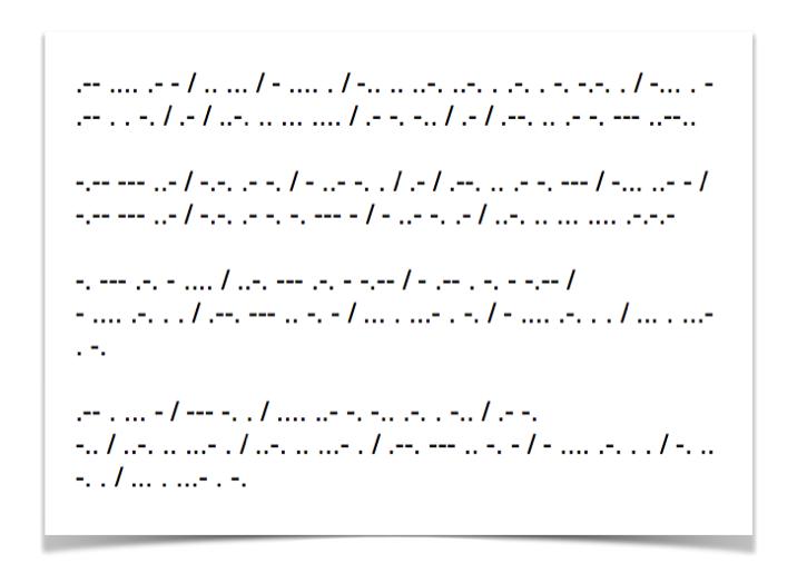 morse code for puzzle – Memfis Mafia