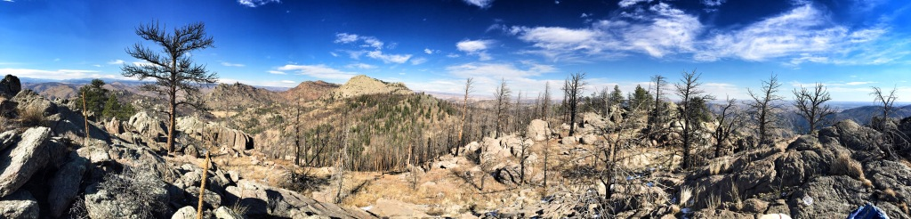 Panoramic view to include Greyrock